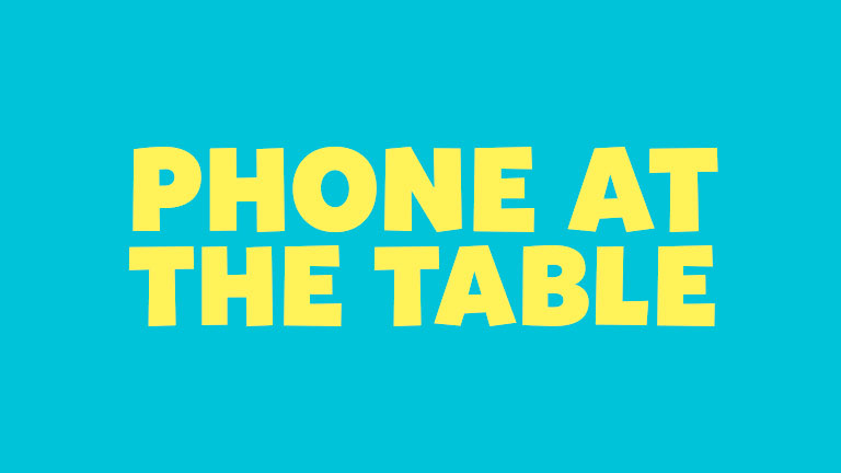 Manners: Phone at the Table