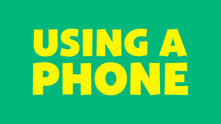 Manners: Using a Phone