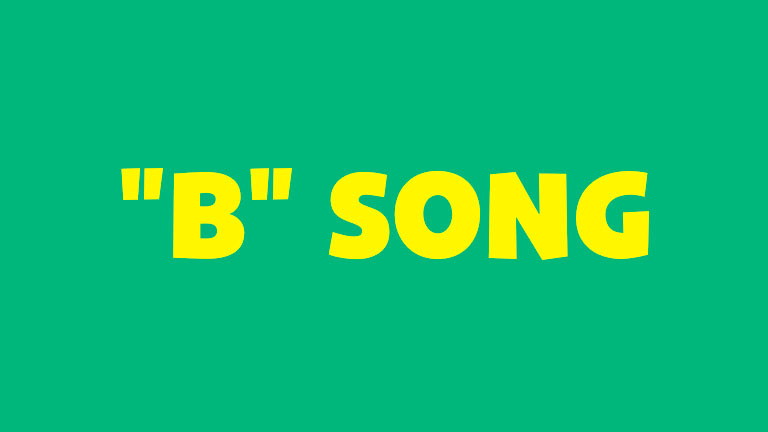 Learning and Singing: The 'B' Song