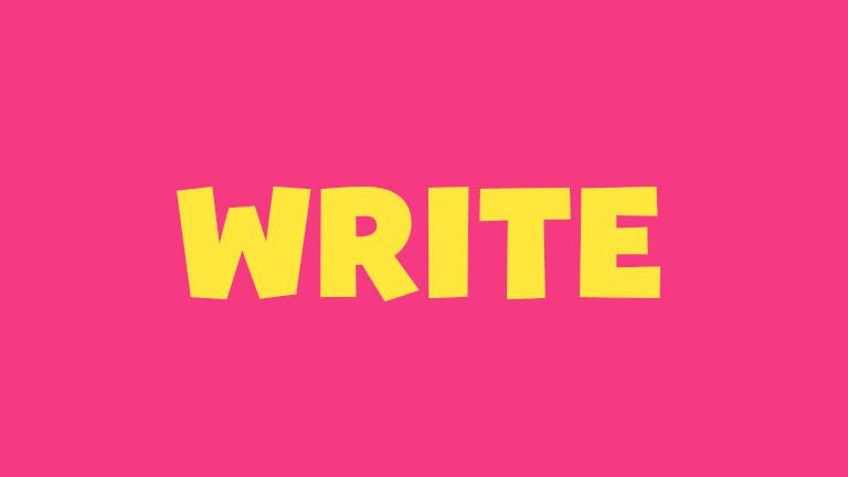 Sight Word: Write